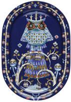 Iittala Blue Taika Oval Serving Plate