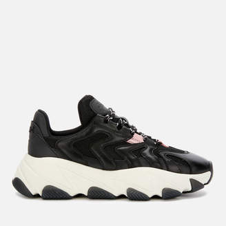 Ash Women's Extreme Chunky Running Style Trainers - Black/Black/Orchid