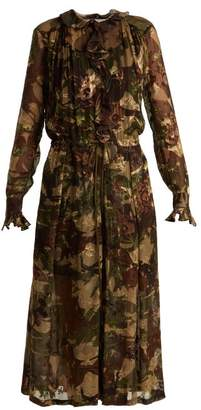 Preen by Thornton Bregazzi Lucinda Camouflage-print Hammered Silk Dress - Womens - Multi