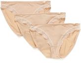 Calvin Klein Underwear Satin Lace Bikini 3 Pack