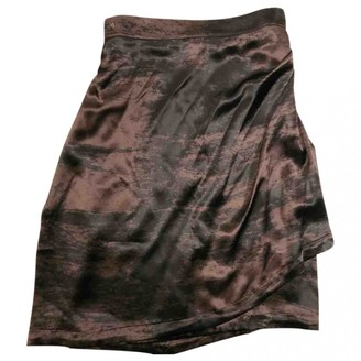 Saint Laurent Brown Silk Skirts