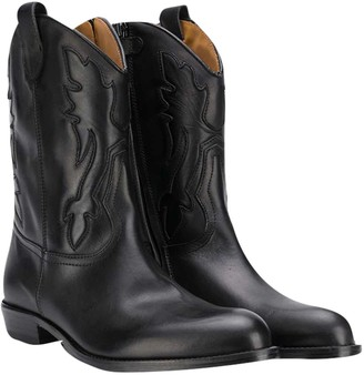 Gallucci Black Teen Leather Boots