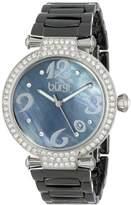 Burgi Women's BUR071BK Quartz Date Ceramic Bracelet Watch