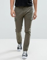 Minimum Amaro Cargo Trousers Slim Fit In Green