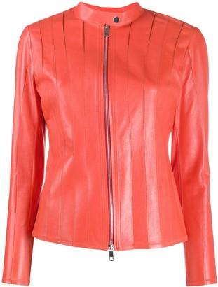 Desa 1972 Stitched Panel Leather Jacket