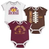 NCAA Arizona State Sun Devils Newborn/Infant Boys 3pk Body Suit
