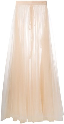 Loulou Pleated Tulle Layered Skirt