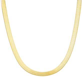 Sphera Milano 14K Yellow Gold Plated Sterling Silver Herringbone Snake Chain Necklace