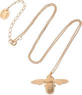 Alex Monroe 22-karat rose gold-plated bumblebee necklace