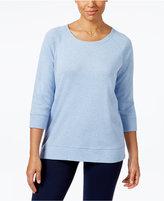 Karen Scott Petite Crew-Neck Sweatshirt, Only at Macy's