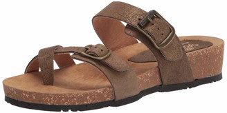 Sbicca Women's Lithium Slip-on Footbed Sandal Gold