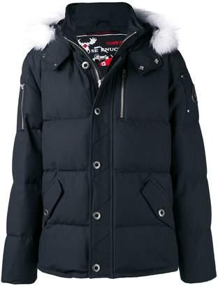 Moose Knuckles fox fur trimmed hood padded jacket