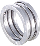 Bulgari Women's B.Zero1 18K White Gold 2-Band Ring