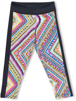 Girl Power Sport Zigzag Print Active Capri Leggings, Size XS-XL