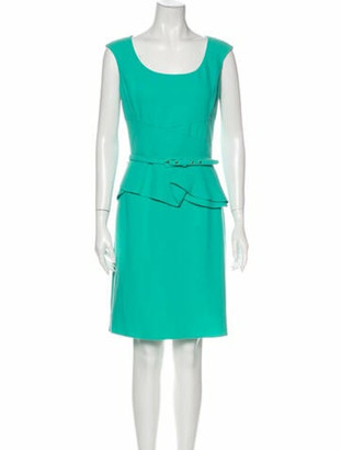 Oscar de la Renta 2013 Mini Dress Wool