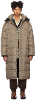 Gucci Black and Beige Down Mini G Rhombus Coat