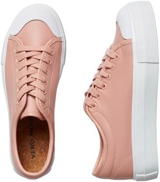 Vero Moda Dusky rose pink lace up sneaker - 36/ UK 3