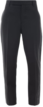 Rick Owens Side-stripe Slim-leg Crepe Trousers - Black