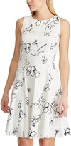 Chaps Women's Floral Fit & Flare Dress