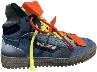 Off-White Off-Court Blue Suede Trainers