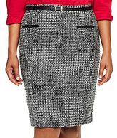 JCPenney Worthington® Belted Tweed Pencil Skirt - Plus