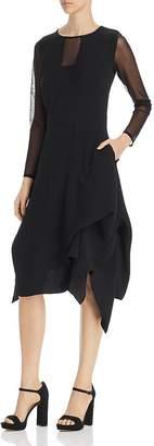 SNIDER Catherine Mesh-Trim Dress