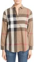 Burberry Women's Check Pattern Cotton Shirt
