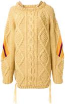 Facetasm oversized knit jumper with stripe panels