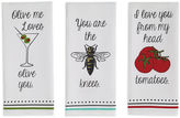 DESIGN IMPORTS Design Imports Love you Set of 3 Kitchen Towels