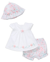 Little Me Girls' Floral Top, Shorts & Hat Set - Baby