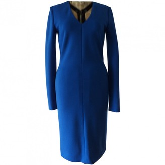 Fausto Puglisi Blue Wool Dress for Women