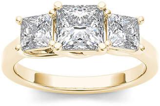 MODERN BRIDE 2 CT. T.W. Diamond 14K Yellow Gold 3-Stone Engagement Ring