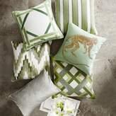 Williams-Sonoma Williams Sonoma Cane Velvet Applique Pillow Cover, Jade
