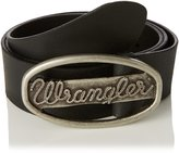 Wrangler Logo Metal Buckle Cut to Fit Belt in in