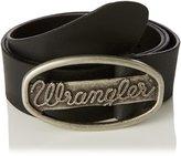 Wrangler Logo Metal Buckle Cut to Fit Belt in in