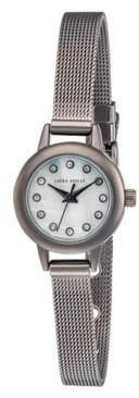 Laura Ashley Women's Mini Case Silver Tone Alloy Bracelet Watch 22mm