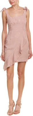 Endless Rose Asymmetrical Linen-Blend Sheath Dress