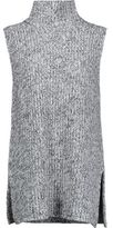 Alexander Wang Marled Cotton-Blend Turtleneck Sweater