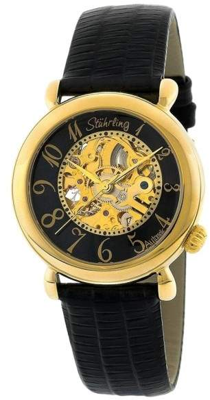 Stuhrling Original Wall Street 108.123527 Stainless Steel & Leather 35mm Watch