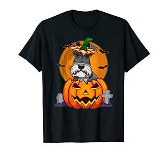Funny Schnauzer Pumpkin Halloween Costume Gift Kids T-Shirt