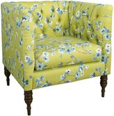 Skyline Furniture Tufted Arm Chair in Sakura Green Tea