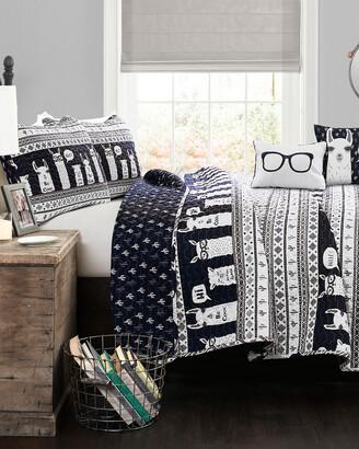 Triangle Home Fashion Fashions 5Pc Llama Full/Queen Quilt Set