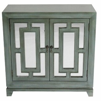 Ophelia & Co. Swainsboro Geo 2 Door Server & Co. Color: French Blue