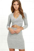 LuLu*s Arabesque Heather Grey Two-Piece Dress