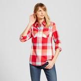 Merona Women's Plaid Favorite Shirt Red