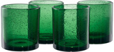 Artland Green Iris Double Old-Fashioned Glass - Set of Four