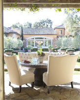Horchow Tufted Outdoor Banquette, Beige