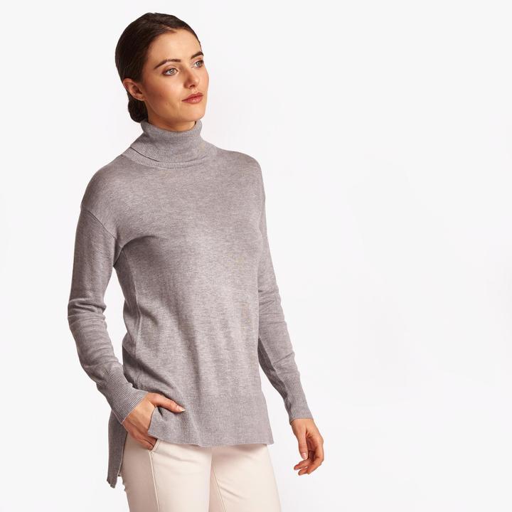 Joan Vass Women's Soft Turtleneck Sweater