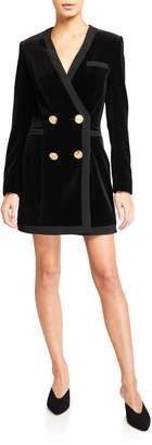 Saloni Bree Velvet Blazer Mini Dress