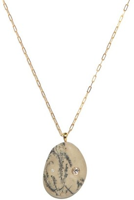 Cvc Stones Laguna Diamond & 18kt Gold Pendant Necklace - Grey